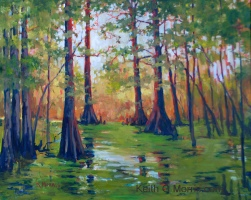 "Cypress Swamp 24"" x 30"" Oil on Masonite"
