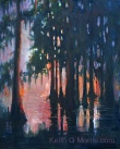 "Cypress Sunrise 30"" x 24"" Oil on Masonite"